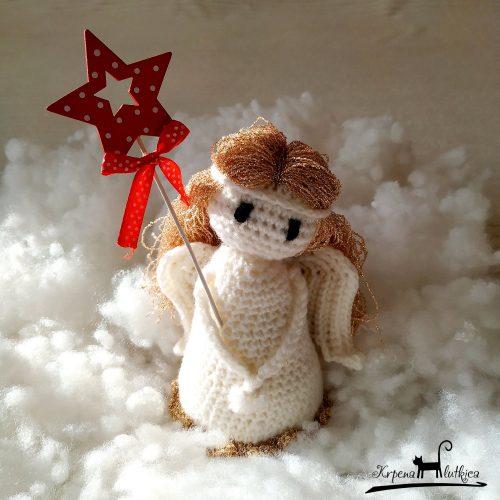 heklana lutka andjeo, crochet doll angel
